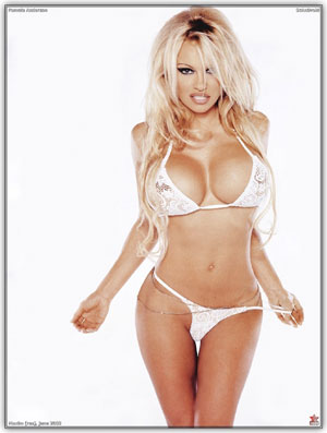 Pamela Anderson the Poker Babe with the Pocket Aces