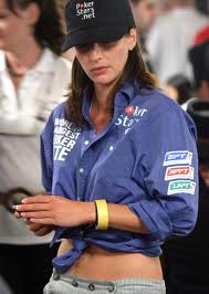Kara Scott is one of the poker babes in 2010 NHUPC